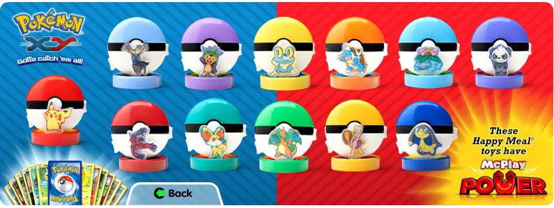 Pokémon Toys in McDonald's Happy Meal 2014